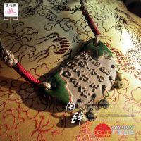 XY042民族风饰品批发 陶瓷首饰中国文化特色吊坠 甲骨文项链