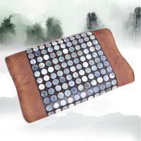 天津厂家皮革保健按摩玉石枕头环保优质保健枕芯零压记忆绵