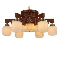 吊灯-红木吊灯 客厅云石灯 红木家具配套灯 红木云石灯厂家定制