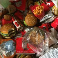 正版散货 麦当劳 超逼真缩小版模型 汉堡薯条派等挂件
