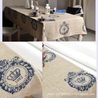 皇冠面料棉麻定位现货供应 窗帘布餐桌布DIY布艺抱枕布料批发