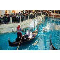公园景区装饰木船 7米贡多拉木船 威尼斯贡多拉观光船 颜色可选