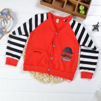 童装2-7岁中小童针织衫 韩版秋款全棉条纹长袖开衫儿童上衣Z0.8