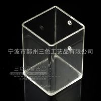 亚克力化妆品收纳盒 透明嵌入式收纳盒 创意方形收纳盒厂家定做