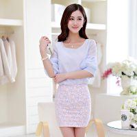 雪纺衫女夏装短袖2015新款韩版气质打底衫泡泡