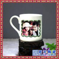 广告促销礼品陶瓷杯 定制水杯咖啡杯子白色马克杯批发