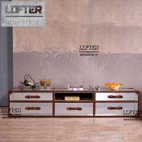 设计师个性电视柜LOFT工业风家具铝皮5抽金属收纳柜酒店客厅边柜