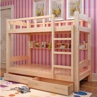 厂家直销批发上下双层实木床学生高低床员工宿舍上下铺松木架子床
