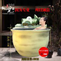 景德镇陶瓷泡澡大缸定做 温泉洗浴大缸定做 陶瓷泡澡大缸厂家直销