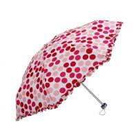 雨伞厂家定制 创意五折铝骨超轻樱花女士折叠晴雨伞