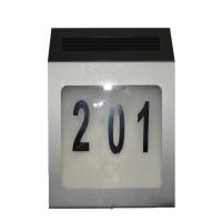 外贸货源 家用太阳能门牌灯数字字母号码灯3LED挂壁式门牌灯