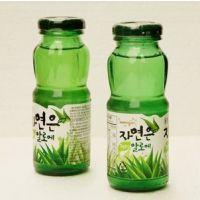 韩国进口饮料 熊津芦荟汁 玻璃瓶180mlX24瓶/箱 批发
