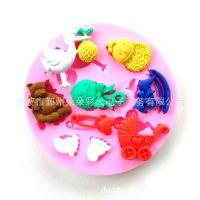 热销 翻糖硅胶模具 蛋糕装饰 娃娃别针 烘焙工具 巧克力模具0223