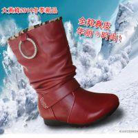 品牌童靴鞋批发大黄蜂秋冬季新款正品真皮女童雪地靴女童鞋库存价