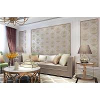 皇家罗兰无缝刺绣欧式绣花壁布卧室书房电视背景墙样板间墙布