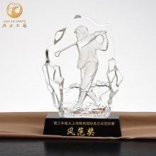 上海高尔夫球水晶奖杯,总奖杯,青少年高尔夫球赛纪念品,水晶奖杯定制厂家|典士工艺