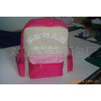 供应外贸原单学生书包、红色牛津布儿童书包、中学生双肩背包书包