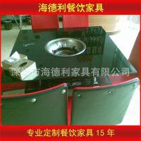【厂家直销】快餐桌椅 分体餐厅玻璃快餐桌组合 专业定做