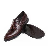 2015男式皮鞋套脚欧美版纯皮男鞋正装工作穿真皮皮鞋男小码37