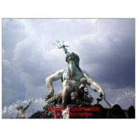 中正铜雕,定制波塞冬铜像,欧式铜雕,人物神像,欢迎来电咨询!