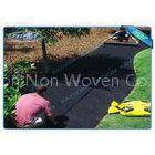 40gsm Black Non Woven Landscape Fabric for Garden Cover , 1.5 % UV - Resistance