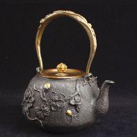 广州铁壶批发市场货源芳村鎏金铸铁茶壶茶叶市场厂家定制龙秀堂