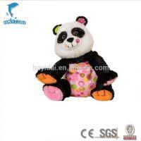 五彩音乐熊猫毛绒玩具短毛绒制作电动毛绒玩具厂家