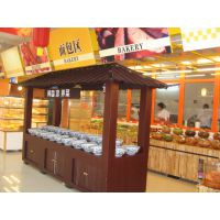 【定制】徐州超越货架 超市酱菜柜不锈钢木质