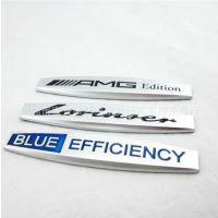 改装 蓝色效能 侧标 叶子板贴标 劳伦斯 AMG车标 装饰 车贴