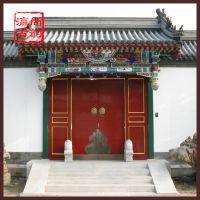 北京厂家订做四合院大门 实木仿古院门 实木古建大门