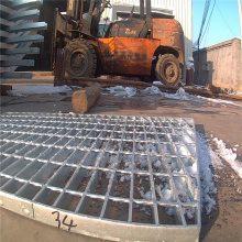 旺来加工定制q235镀锌钢格板 镀锌格栅板 钢格板踏板