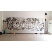 瓷板装饰画 高档沙发背景三联画 和艺陶瓷 酒店咖啡厅挂画