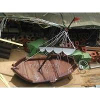 乌篷船|仿古官船|古典木船|复古景观船-新款新底价-振兴
