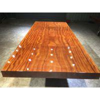 家有名木供应非洲红塔利实木大板桌餐桌画案会议桌办公桌茶桌书桌电脑桌原木简约风