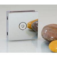 全铜玻璃夹 0度方形玻璃夹 玻璃隔断角码 玻璃夹厂家亮光、砂光