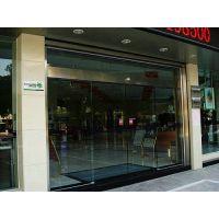 *安装外海酒店自动玻璃门,刷卡电动门,使用方便