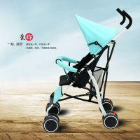 乐喜喜童车夏季竹席可躺可坐婴儿推车 轻便折叠儿童四轮凉席手推车伞车批发
