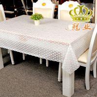 包邮中式风格防水防油免防烫PVC水晶板多彩透明碎花方形酒店桌布