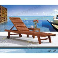 供应户外休闲家具实木沙滩椅休闲椅泳池躺椅