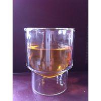 供应玻璃双层杯/异性玻璃双层杯/高硼硅耐热玻璃果汁双层杯