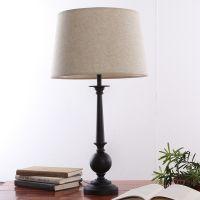 包邮现代简约时尚宜家铁质卧室床头台灯创意调光客厅布艺灯具灯饰