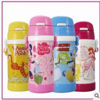 迪士尼保温杯 儿童不锈钢吸管保温水杯男女可爱儿童水杯