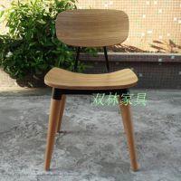 双林家具 榉木餐椅 韩式日式简约休闲椅子 弯曲木椅PU坐垫椅 J60