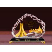 水晶纪念品 单位周年庆水晶工艺品 西安定做水晶工艺品