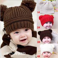 秋冬款宝宝韩国正品儿童帽子批发 宝宝冬帽子 加绒针织毛线帽子