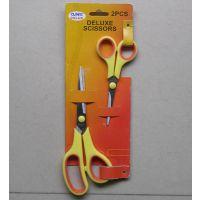 不锈钢剪刀,办公剪。民用剪,学生剪,2件套橡塑柄剪HD-149