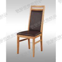 高背软包餐椅定做 榆木全实木餐椅 休闲椅 现代餐厅餐桌椅