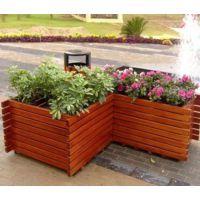 康图木制花箱落地式 街道摆设花池 木制大型道路花坛