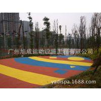 游乐园幼儿园塑胶操场跑道/EPDM塑胶材料批发/塑胶颗粒跑道设备