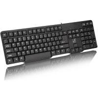 追光豹Q8有线键盘鼠标套装 有线PS2键盘 有线键盘圆孔